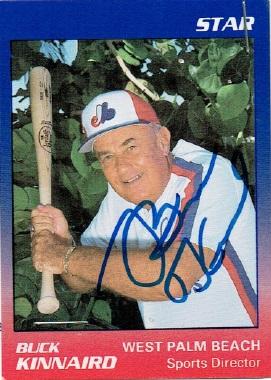 Photograph of Buck Kinnaird baseball card