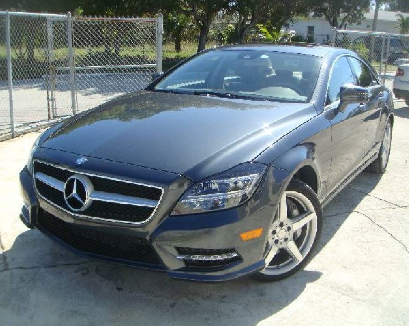 2014 Mercedes CLS 550 with body repair done by Elite Paint & Body Shop in West Palm Beach, Florida